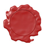 Wax seal. An image of a red seal of wax Stock Images