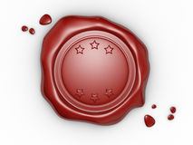 Wax seal. With blank field. 3d render illustration Stock Photo