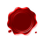 Wax seal. Red wax seal on isolated background Stock Images