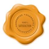 Wax seal. Realistic wax seal with text: guarantee vector illustration