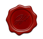 Wax seal. Brown wax seal on white background Stock Photos