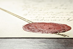 Wax seal Royalty Free Stock Images