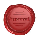 Wax seal - Approved Stock Images