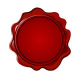 Wax seal with blank field Stock Image