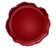 Wax seal with blank field Royalty Free Stock Photography