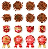 Wax seal collection Royalty Free Stock Photos