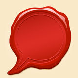 Wax Seal Comic Speech Bubble vector illustration