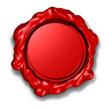 Wax seal crest red award Royalty Free Stock Image