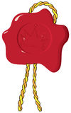 Wax seal with crown Stock Image