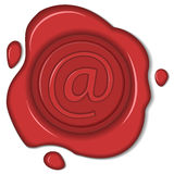 Wax seal email sign Royalty Free Stock Image