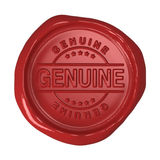 Wax seal - Genuine Stock Image