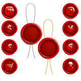 Wax Seal Icons Royalty Free Stock Images