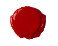 Wax seal isolated with clipping path included Stock Image