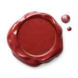 Wax seal or signet isolated red. Red wax seal isolated on white Stock Photography