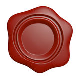 Wax seal. Isolated on white background vector illustration