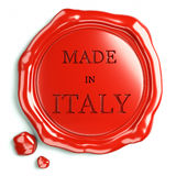 Wax seal of italy. Red seal of quality made ​​in Italy Stock Photography