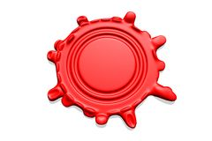 Wax seal with room for text royalty free stock photography