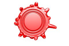 Wax seal with room for text Stock Image