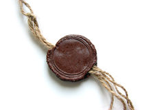 Wax seal with rope Stock Images
