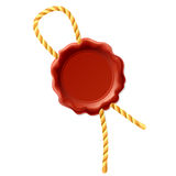 Wax seal with rope Stock Photos