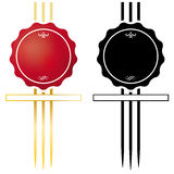 Wax Seal Symbol Royalty Free Stock Images