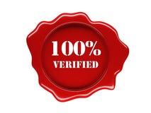 Wax seal verified Stock Photos
