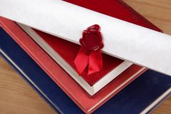 Wax sealed certificate Royalty Free Stock Images