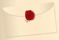 Wax Sealed Envelope Stock Photos
