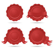 Wax seals. Set of four different wax seals Royalty Free Stock Photography