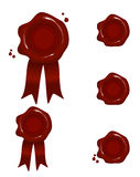 Wax seals. Illustration of real looking wax seals Royalty Free Stock Photography