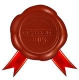 Wax seals with red ribbons. Guarantee. Vector. Wax seals with red ribbons. Guarantee Royalty Free Stock Photo