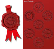 Wax Shield - Award Winner. EPS 10 embossed wax seal. All presented options are in place on separate layers. Switch layers on and off to achieve the desired Royalty Free Stock Photography