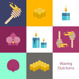 Wax spa banner club  badge Stock Photography