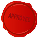 Wax stamp with approved Royalty Free Stock Image