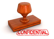 Wax Stamp Confidential (clipping path included) Stock Images