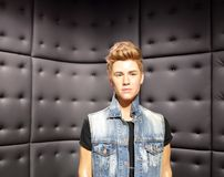 Wax statue of hollywood singer Justin Bieber at Madame tussauds London Stock Photos