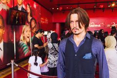 Wax statue of Johnny Depp Stock Photo