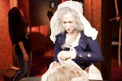 Wax statue of  Madame tussauds Royalty Free Stock Images