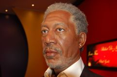 Wax statue of Morgan Freeman stock image