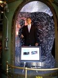 Wax statue of President Barak Obama on display stock images