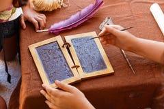Wax tablet Roman Empire Stock Photos