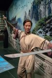 Wax works madame tussauds figurine,Michelle Yeoh indoors famous character chinese hongkong stock image