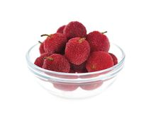 Waxberries (Chinese Bayberry) Stock Images