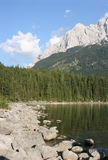 waxensteine d'Allemand d'eibsee d'alpes Image stock