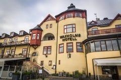 Waxholms旅馆,瓦克斯霍尔姆,斯德哥尔摩群岛,瑞典 免版税库存照片