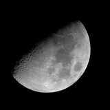 Waxing gibbous moon. Royalty Free Stock Image