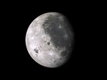 Waxing moon phase Royalty Free Stock Photos