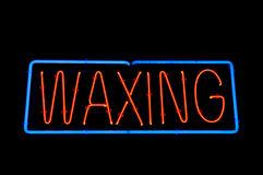 Waxing Sign Royalty Free Stock Image