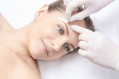 Waxing woman body. Sugar hair removal. laser service epilation. Salon wax beautician procedure. Waxing women body. Sugar hair removal. laser service epilation royalty free stock images