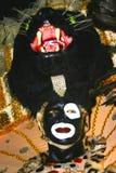Waxwork av Mardi Gras Zulu arkivbilder